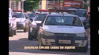 Assaltantes explodem caixa eletr�nico em Jequita�, no Norte de Minas