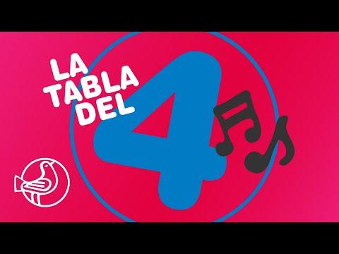 Karaoke tablas de multiplicar, la Tabla del 4