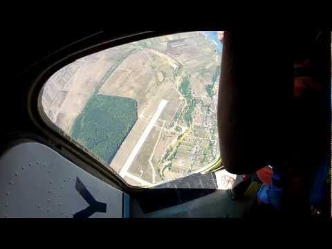 Skydiving accuracy landing training [POV]