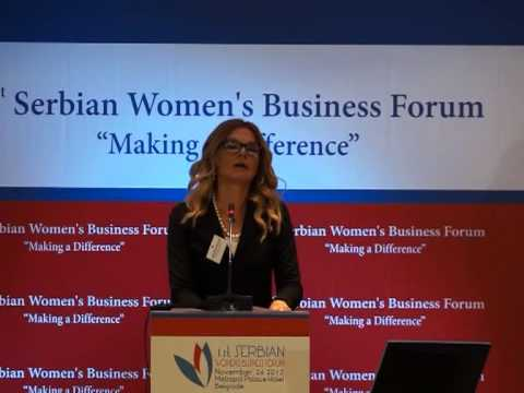1st Serbian Women's Business Forum - Women and power: Is it a men's world? - M Bobic Mojsilovic