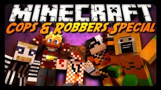 Minecraft: HALLOWEEN COPS & ROBBERS SPECIAL! w/ AntVenom & Friends!