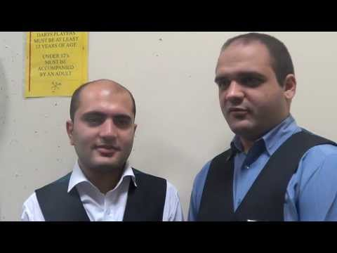 Team Iran - Soheil Vahedi and Amir Sarkhosh speaking to IBSF