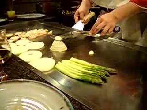 Amazing Cooking!, At Benihana's Restaurant in London.