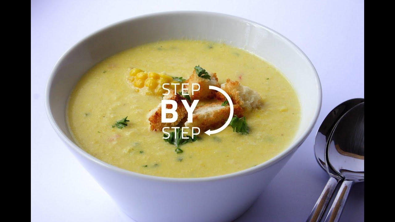 how to make corn soup recipe