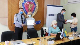 Вручення сертифікатів учасникам тренінгу ОБСЄ