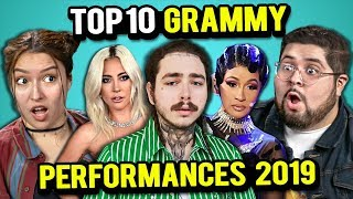 Top 10 Grammy Performances 2019 Ranked By Adults | The 10s (React)