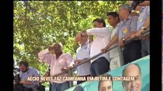 A�cio Neves faz campanha em Contagem e Betim