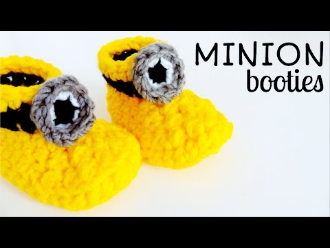 How to crochet MINION BOOTIES / MINION SLIPPERS ♥ CROCHET LOVERS