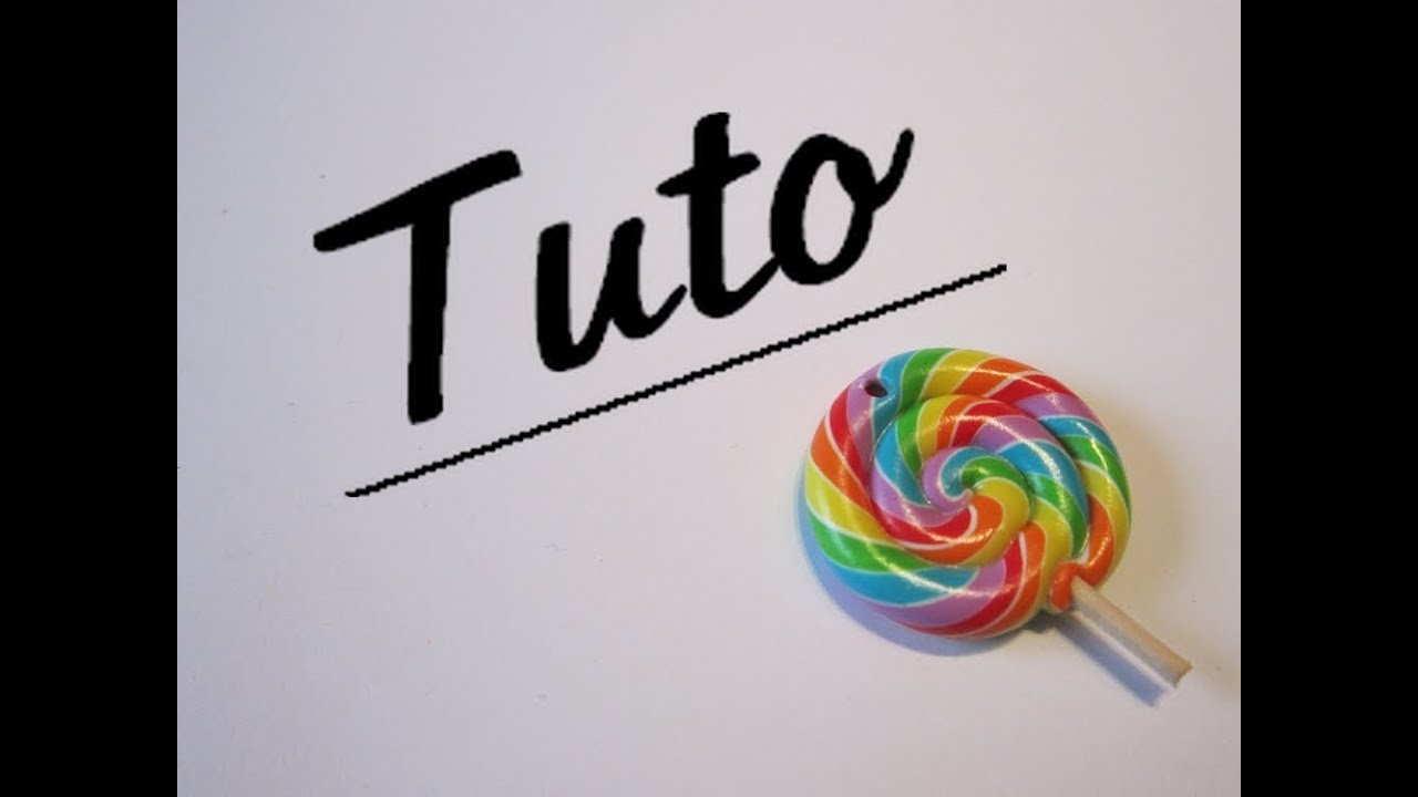 tuto fimo lollipop multicolore youtube. Black Bedroom Furniture Sets. Home Design Ideas