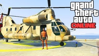 GTA Online: Cargobob Location! How To Get A Cargobob