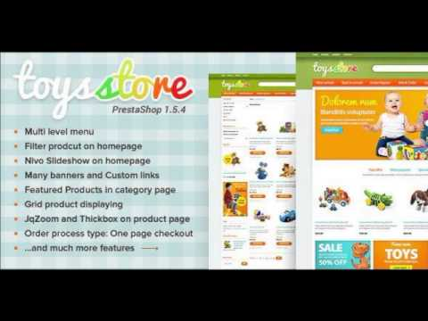 Preview ET Toys Store PrestaShop Template Entertainment