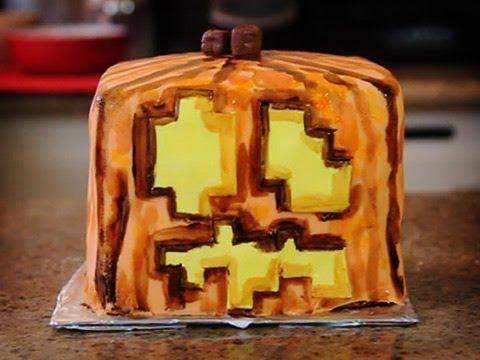 Minecraft Jack-O-Lantern Cake! - Quake n Bake