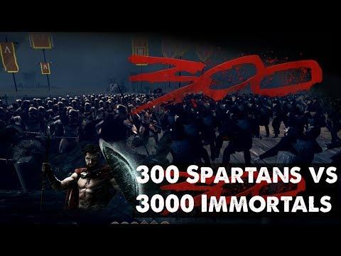 Rome: Total War 2 Massive Battles - 300 Spartans vs 3000 Immortals [Ultra/1080p]