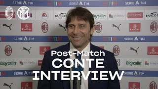 """AC MILAN 0-3 INTER   ANTONIO CONTE EXCLUSIVE INTERVIEW: """"Proud of the lads' work"""" [SUB ENG]"""