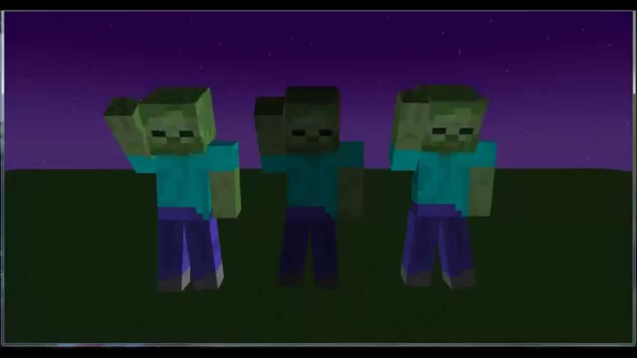 Minecraft zombie dance animations 3 youtube - Zombie style minecraft ...