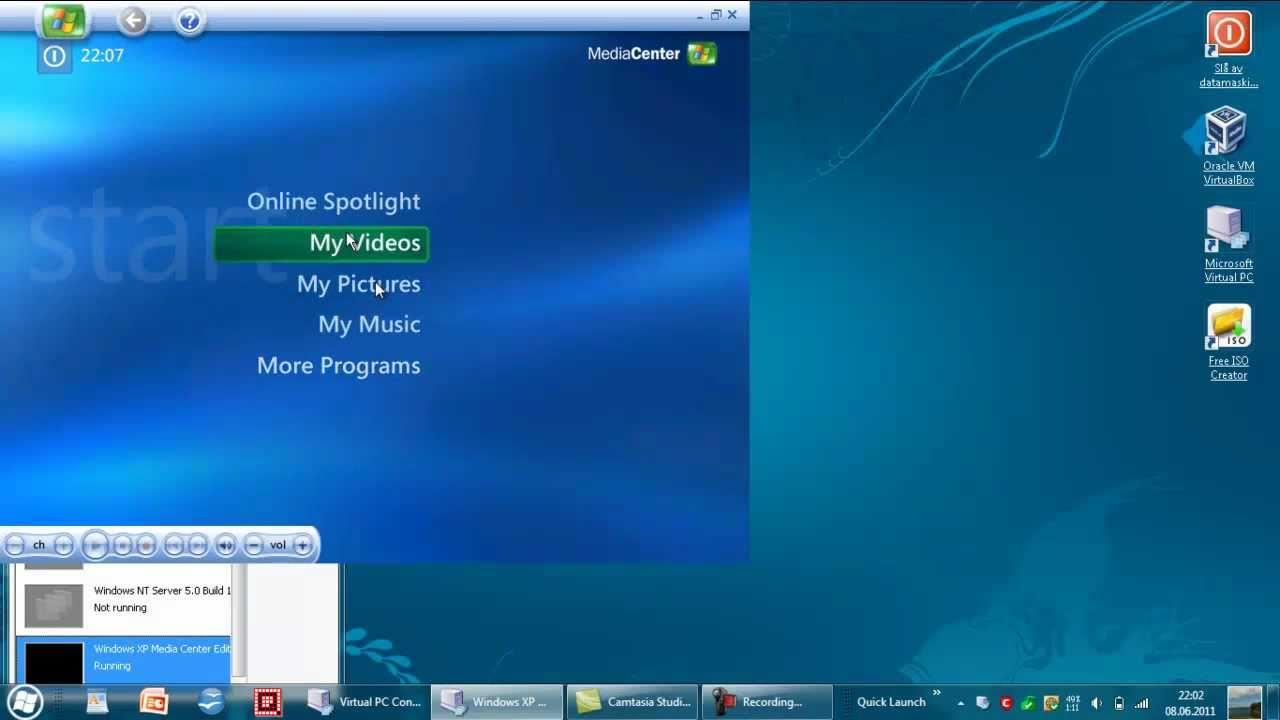 OS: Windows XP Media Center Edition 2005 - YouTube