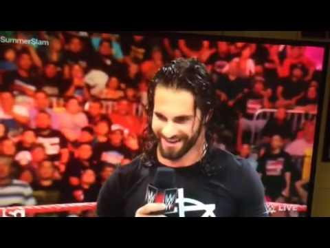 Fan Runs Into Ring With Seth Rollins On Raw