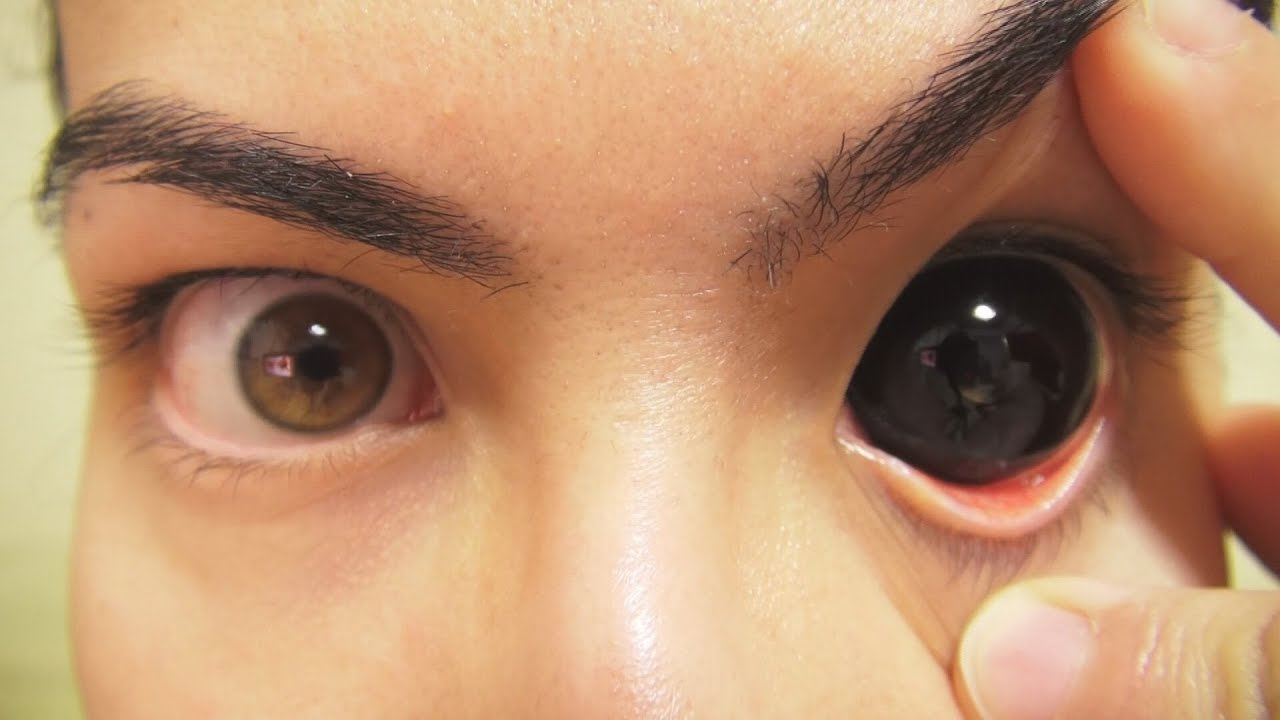 How to: Insert And Remove Black Sclera Contact Lenses (Fxeyes ...