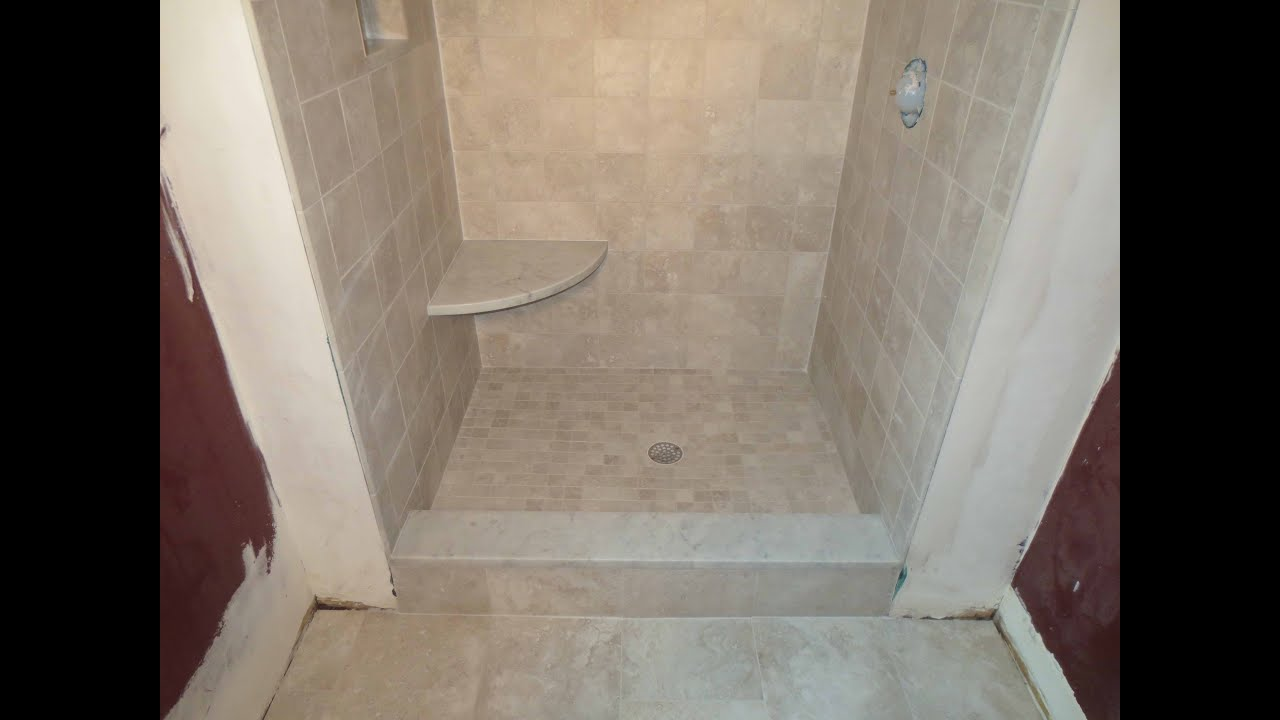 Complete tile shower install youtube Install tile shower