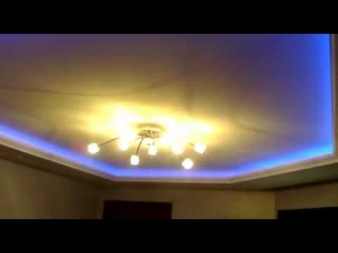 Fita de LED RGB em sanca de gesso - YouTube