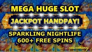 *JACKPOT HANDPAY* Sparkling Nightlife Slot 600+SPINS