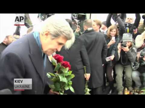 John Kerry in Ukraine as Vladimir Putin cools tensions