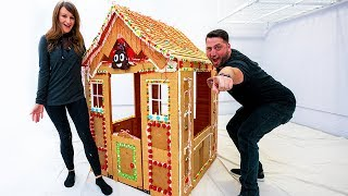 Building a Life-Size Gingerbread House!
