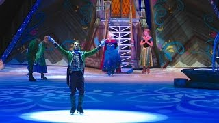 Queen Elsa coronation with Anna, Hans in Frozen Disney on Ice skating show debut