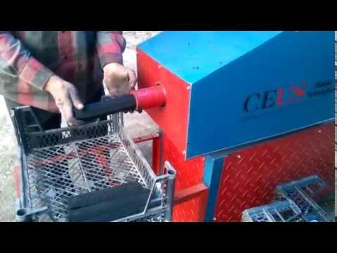 Odun kömürü tozu sıkıştırma makinası Ceus CM-200