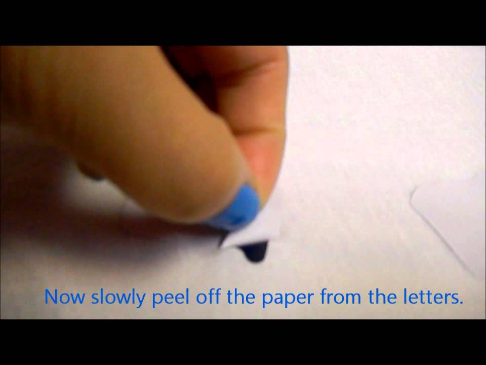 DIY How To Put Letters On A Shirt Using Iron On Letters - YouTube