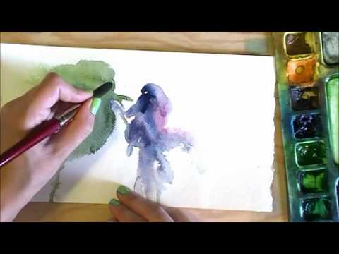 Impressionistic Watercolour Berries in Five Strokes