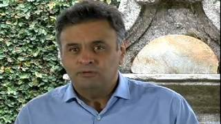 A�cio Neves faz �ltimo dia de campanha em S�o Jo�o del Rey