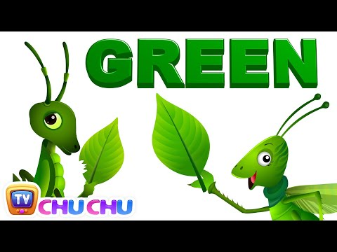 Color Songs - The GREEN Song | Learn Colours | Preschool Colors Nursery Rhymes | ChuChu TV