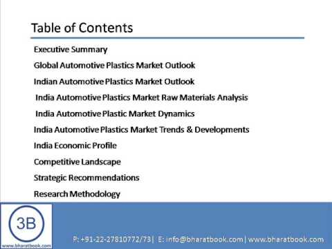 Bharat Book Presents : India Automotive Plastics Market Forecast & Opportunities, 2017