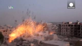 6 'barrel bombs' cause huge explosion in Syria
