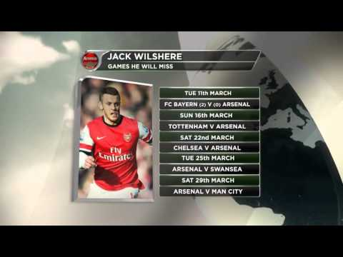 Wilshere out for six weeks with fracture