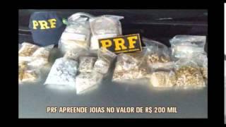 Pol�cia apreende joias avaliadas em R$ 200 mil escondidas em carro na BR-265