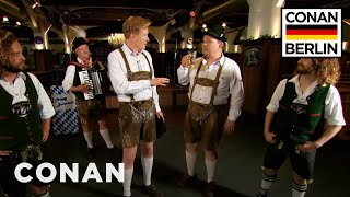 Conan & Andy Richter Learn A Traditional German Dance