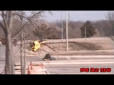 BAD Motorcycle Accident Crash Caught on Camera! - Hits curb sideways a