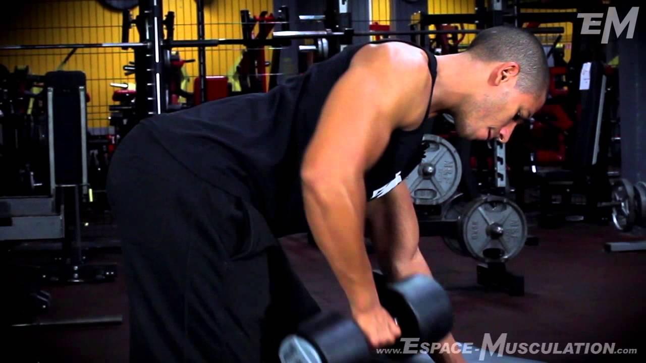 Rowing Haltère - Exercice de Musculation Dos - YouTube