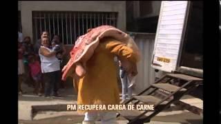 PM recupera carga de carne roubada de frigor�fico em BH