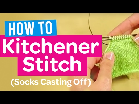 Kitchener Stitch Using Knitting Needle : How to Kitchener Stitch (Socks Casting Off) - Quick Knitting Tutorial - YouTube