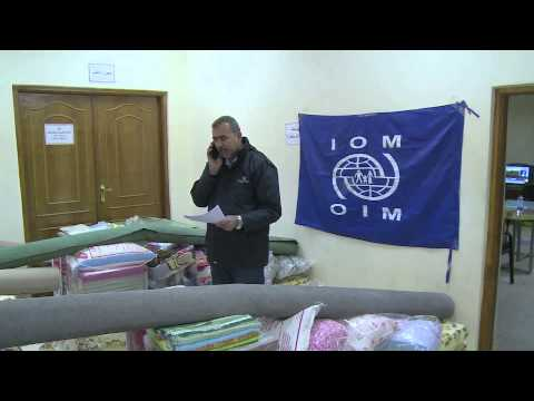 UN Aid to Anbar people - IOM distributed non-food items