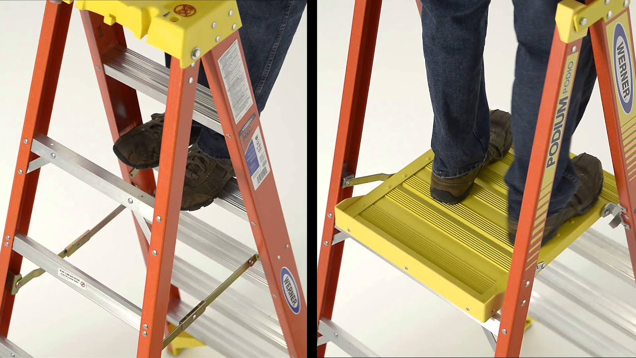 Hnn Werner Podium Ladder Makes High Work Safer