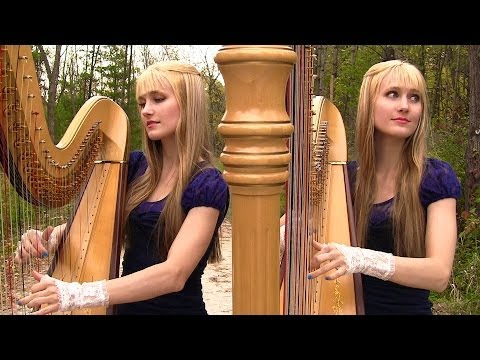 GREENSLEEVES/What Child Is This (Harp Twins) Camille and Kennerly, Harp Duet