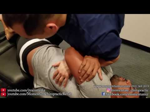 Chiropractic Adjustment on a Miami Soccer Player