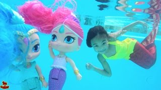 Magic Mermaids Shimmer and Shine Unboxing | Toys Academy