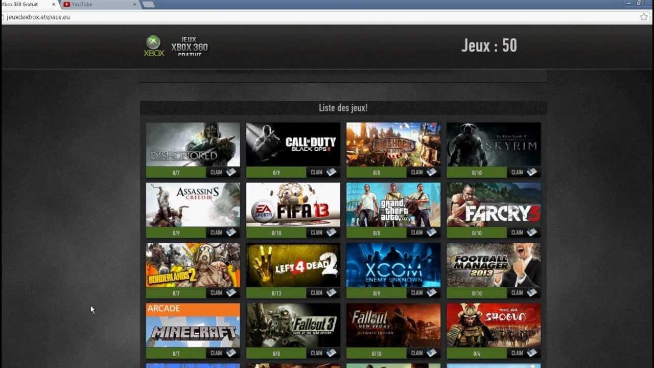 Xbox 360 jeux gratuits aout 2013 telechargement youtube - Jeux gratuits info ...