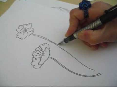 How to draw a poppy youtube for Poppy drawing step by step