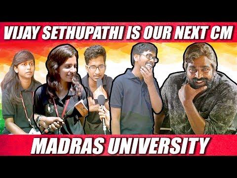 Madras University Student On 2019 Election